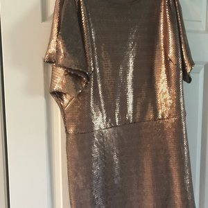 Sara Campbell gold sequent dress large